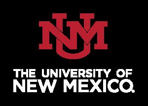 UNM Logo Spelled Vertical Color